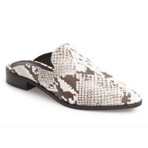 Shelly's London Snakeskin Mules